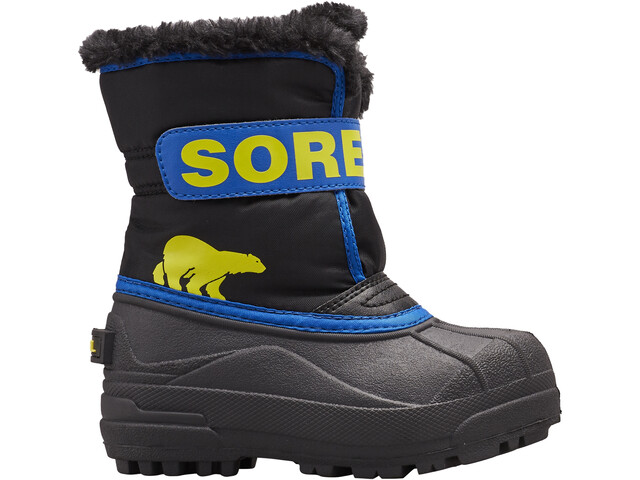 Sorel Snow Commander Buty Dzieci, black/super blue